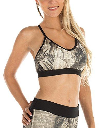 WINSHAPE Damen Fitness Freizeit Bustier Functional Push-up New-York mit herausnehmbaren Einlagen All-Fit Style Sport-BH, S