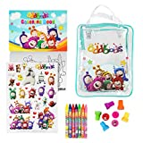 Oddbods Creativity Set - Arts and Crafts for Kids, Kit Includes Wax Pencils, Stickers, Stamps, Coloring Book and Travel Bag - Art Supplies for Children (Ages 2+)
