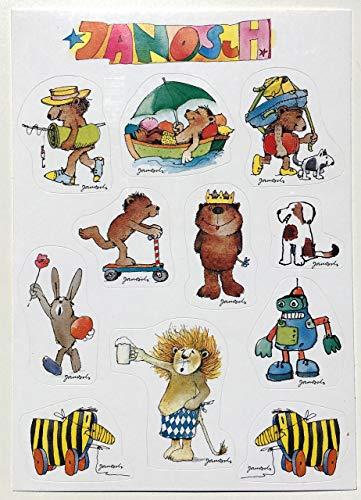 Janosch Multi-Sticker-Postkarte Sommer-Spaß mit Tigerente