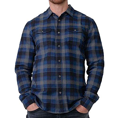 Petrol Industries - Camisa de leñador para hombre, color azul., Estate Blue, XXL