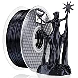 AMOLEN Stampante 3D Filamento PLA 1.75mm, Nero di Seta 1KG,+/- 0.03mm Silk Black Materiali...