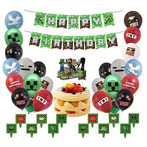 smileh Decoracion Cumpleaños Gaming Globos Game...