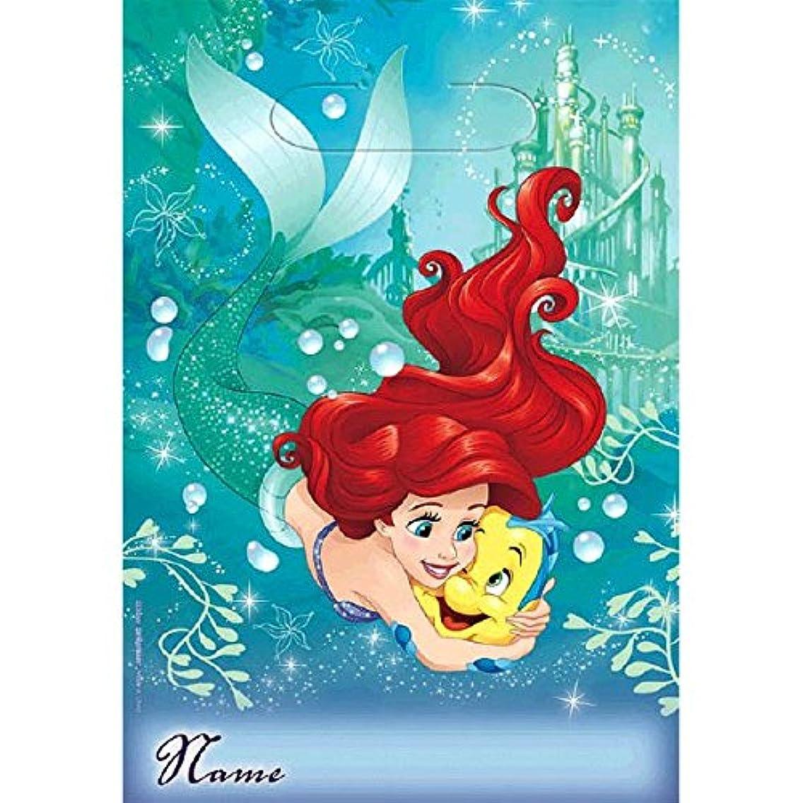 American Greetings Disney Ariel The Little Mermaid Party Supplies Plastic Treat Bags, 8-Count