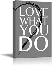 wall26 - Black and White Half Heart with a Quote - Love What You Do - Canvas Art Home Decor - 12x18 inches