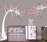 Sayala Stickers Muraux Koala Arbre Enfant- Autocollant Adhésif Mural Koala Branches...