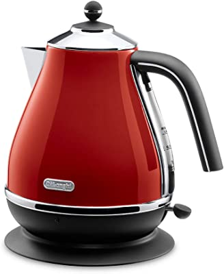 Delonghi icona Collection Electric kettle KBO1200J-R (Red)【Japan Domestic genuine products】