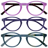 Opulize Zen Pack 3 Gafas De Lectura Rosa Púrpura Turquoise Azul Pequeño Hombres Mujeres RRR24-45Q +3,50