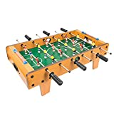 Global Gizmos 50580 Deluxe Table Top Football Foosball Game | Kids/Adults/Family | Retro Classic | Lightweight & Portable, 69cm x 37cm