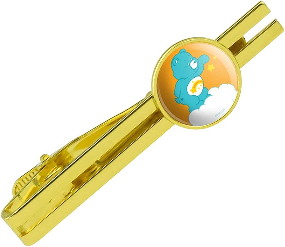 GRAPHICS & MORE Care Bears Wish Bear Round Tie Bar Clip Clasp Tack Gold Color Plated