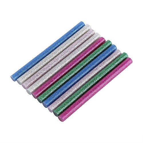 10 stuks gekleurde lijmpistool glitter mini voor doe-het-zelvers 20 watt lijmpistool 7 × 100 mm