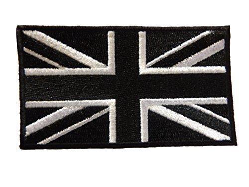 fat-catz-copy-catz DIVERSES COULEURS UNION JACK, Armée,Angleterre,Royaume-Uni,PATRIOTIQUE DRAPEAU repasser à Coudre Vêtements Patch Noir Union Jack patch, Small