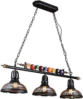 LYM #Lámparas Colgantes American Retro Araña Restaurante Bar Bar Tabla Tienda de Ropa Billar Mesa de Ping Pong Tienda Decorativo de la Personalidad Creativa Nostálgico Lámparas: Amazon.es: Hogar