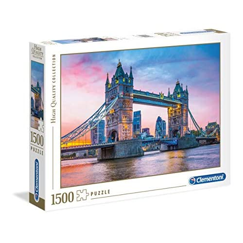 Clementoni - 31816 - High Quality Collection Puzzle - Tower Bridge Sunset - 1500 Pezzi - Made In Italy - Puzzle Adulto