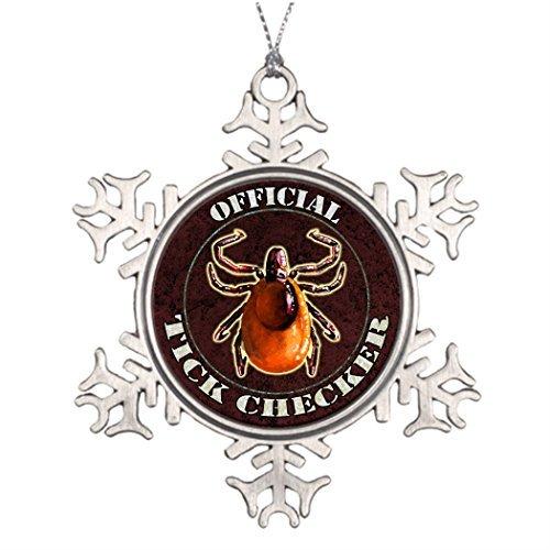 Yilooom Weihnachtsbaum-Dekoration, offizieller Zecken-Checker, Weihnachtsbaum, Schneeflocke