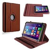 NAUC Tablet Tasche für Acer iconia One 8 B1-820 Hülle Schutzhülle Cover Schutz Case, Farben:Braun
