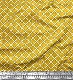 Soimoi Gold Kunstseide Stoff quaterfoil Damast Stoff