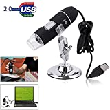 InfiDeals USB Digital Microscope, 50X to 1000X Magnification Mini Handheld Endoscope Inspection Camera with 8 LEDs with Metal Stand, Compatible with Android Smartphone, Mac, Windows