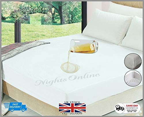 NIGHTS PLASTIC MATTRESS BED WETTING SHEET EXTRA DEEP MATTRESS PROTECTOR (4ft Size:122cm x 190cm Approx)