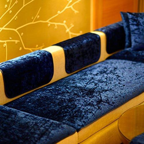 TY&WJ Plüsch Anti-rutsch Sofabezug Wohnzimmer Sofabezug Outdoor Couch-abdeckungen Möbel Protector Für ledersofa Haustier Hund & Kinder-Marineblau 70x180cm(28x71inch)
