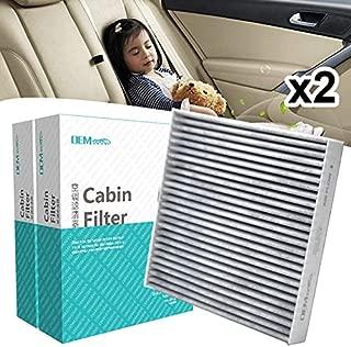 2PC Car Pollen Cabin Air Filter Includes Activated Carbon 80292-SDA-A01 80292-SDG-W01 80292-SEA-003 Fits For Honda Accord Civic Crosstour CR-V Legend Pilot
