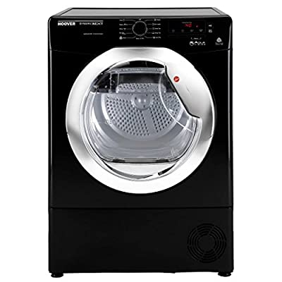 Hoover DNCD813BB Aqua Vision 8kg 2 Temps Sensor Condenser Tumble Dryer in Black