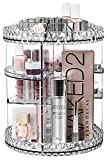 Sorbus Makeup Organizer, 360° Rotating Adjustable Carousel Storage for Cosmetics, Toiletries, and More — for Vanity, Bathroom, Bedroom, Closet, Kitchen (Clear)