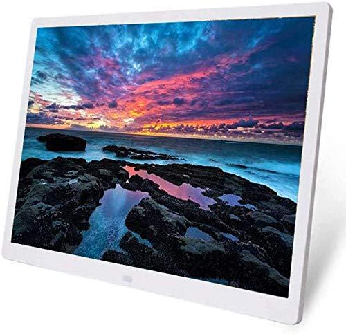 ASHTRAY WiFi Digitaler Bilderrahmen 20 Zoll LED-HD Bildschirmauflösung 1024 * 768 Elektronisches Album Picture Musik ultradünnes Widescreen Full Format,Weiß