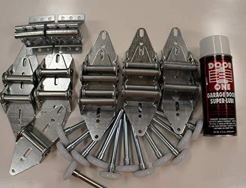 Buy Bargain Garage-Door-Tune-Up-Kit-Hinge-Roller-Wheel-1-Car-Door-FOR-8-TALL-DOOR