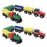 Changor Toy Train, Holz und Metall Made Train Design Kinderwagen Reisekutsche