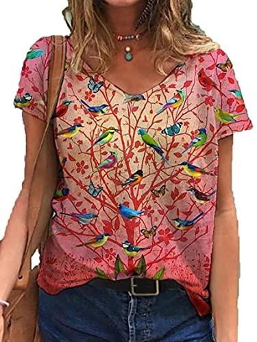 Wsgyj52hua 2021 Camiseta Casual De Manga Corta con Estampado Animal De Verano Europeo Y Americano para Mujer