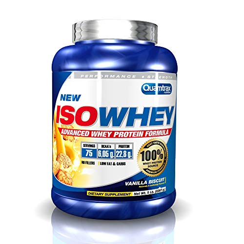 Quamtrax Proteina Iso whey sabor Vanilla Biscuit -2270 gr 75 servicios