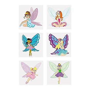 Fun Express - Fairy Princess Glitter Tattoos  6dz  - Apparel Accessories - Temporary Tattoos - Glitter Tattoos - 72 Pieces