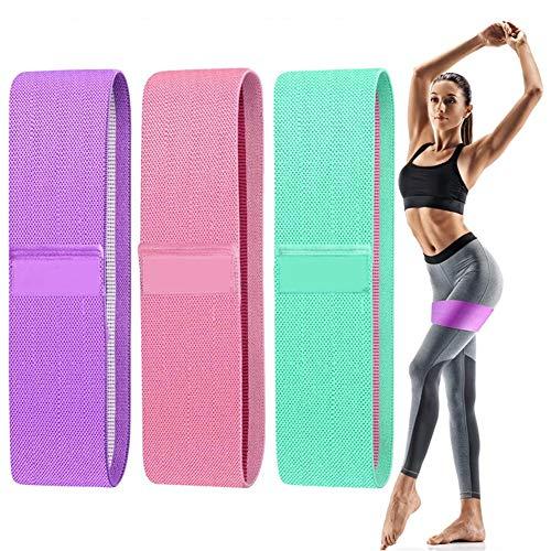 Cintas Elasticas Musculacion, Bandas de Resistencia para PiernasTrasero Bandas de Entrenamiento de Cadera Bandas Elásticas Musculacio para Mujeres, Hombres, Fitness para Glúteos Muslo Pilates Yoga