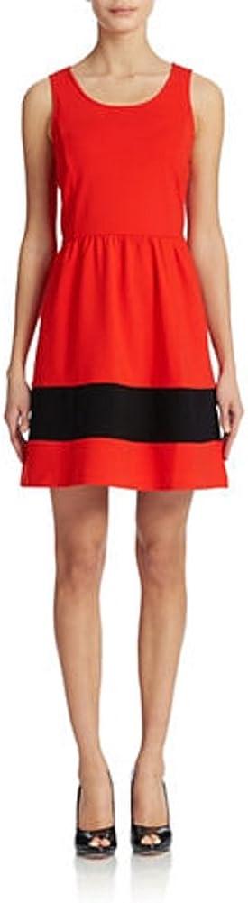 kensie Women's Ponte Dress KS3K7414 Red Pop Combo Dress