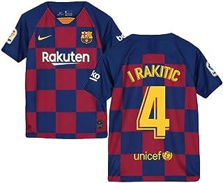 2019-2020 Barcelona Home Nike Football Soccer T-Shirt Trikot Kids Ivan Rakitic 4
