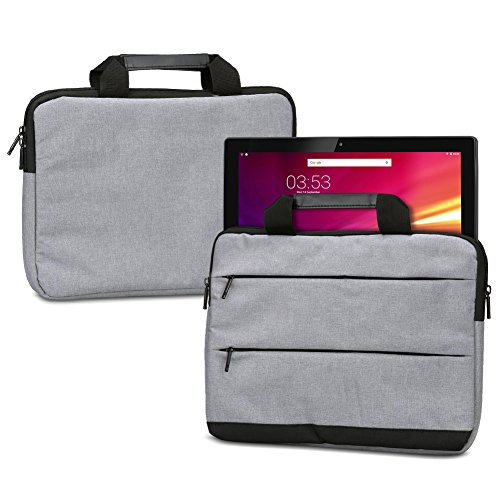 NAUC Laptoptasche Hülle für HANNSpree HANNSPad Poseidon 11,6 Schutzhülle Sleeve Tragetasche mit Handgriffen & Zubehörtaschen, Farbe:Grau
