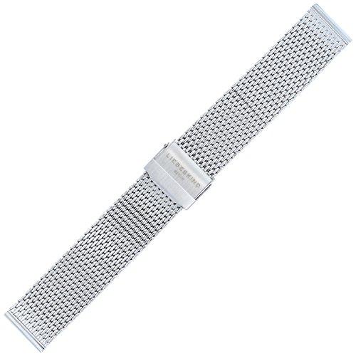 Liebeskind Berlin Uhrenarmband 20mm Edelstahl Silber Mesh/Milanaise - B_LT-0038-MM