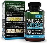 1400 Mg de Omega 3 de aceite de pescado, SIN PROVOCAR ERUCTOS, ¡Alta potencia en 900 mg de EPA + DHA para una duración de 90 días de consumo! | Con cubierta entérica para máxima absorción/ Sin sabor a pescado | Molecular destilado, libre de contaminantes (1 botella)
