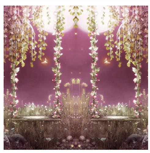 3D Mural papier behang fotobehang muur decoratie sprookjesbos romantisch maanschijn-muurschilderij 400 Cm*280 Cm