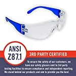 24 Pack of Safety Glasses (24 Protective Goggles in 6 Different Colors) Crystal Clear Eye Protection - Perfect for Construction, Shooting, Lab Work, and More! 3rd Party ANSI Z87.1 Certified