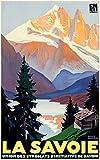WallBuddy La Savoie Poster Alpen Berg-Poster Auvergne
