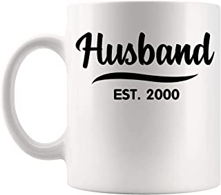 Husbands Wives Gift - Husband Est 2000 19th 20 21st Years Wedding Anniversary Husband 11Oz Cup Mug - Married Couple Best Off-Registry Wedding Gift T-Shirts