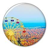España Turismo en Barcelona Imán de Nevera, imánes Decorativo, abridor de Botellas, Ciudad turística, Viaje, colección de Recuerdos, Regalo, Pegatina Fuerte para Nevera