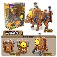 5 in1プラントvsゾンビアクションフィギュアおもちゃアセンブリ変形ゾンビBOSSロボット人形PVZプラントvsゾンビ教育玩具