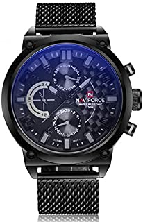 Naviforce Casual Watch For Men Analog Metal NF9068L.3