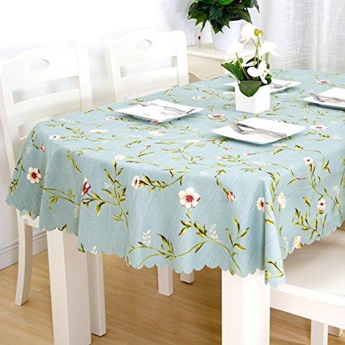 DENG&JQ Lang oval Tischdecken,Tabelle Tuch Aus Stoff Folding Baumwolle Klein frisch Haushalt Runde Coffee Table Europäische-C 126x170cm(50x67inch)