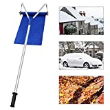 CWEI Roof Snow Rake Removal Tool 20 Ft with Adjustable Telescoping Handle Will Relieve Your House of The Heavy Snow