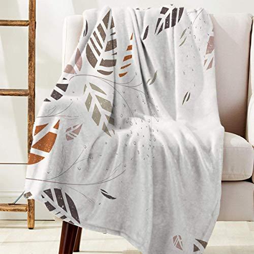 Manta Para Use hojas pintadas a mano con tema de otoño Blanket 125 X 100CM