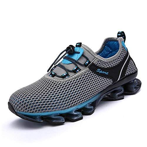 Kuletieas 2019 Sommer atmungsaktiv weiches Licht männlich Mesh Schuhe für Männer Erwachsene Turnschuhe zu Fuß lässig Bequeme Schuhe-7 UK