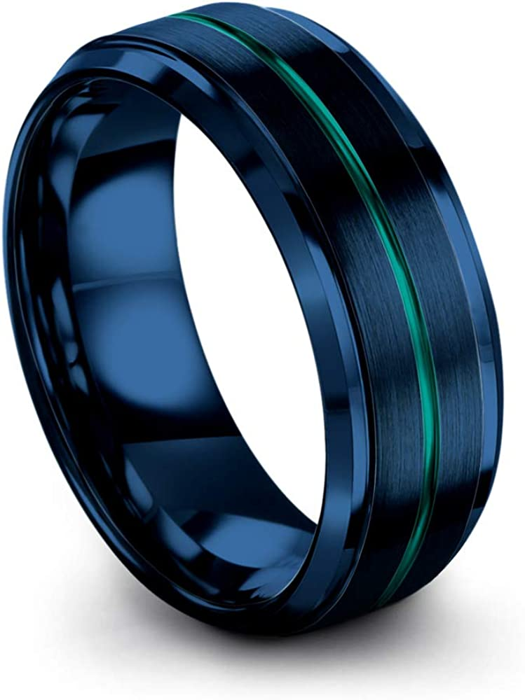 Chroma Color Collection Tungsten Carbide Wedding Band Ring 8mm f